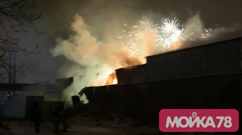 МЧС о пострадавших при пожаре на складе пиротехники: фоторепортаж «Мойки78»