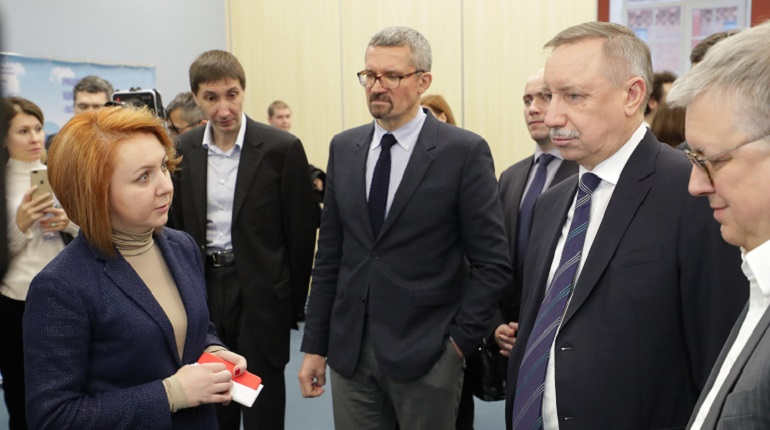 Александр Беглов в НИУ ВШЭ. Фото: gov.spb.ru