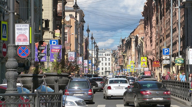 Улица Рубинштейна в Центральном районе. Фото: Baltphoto