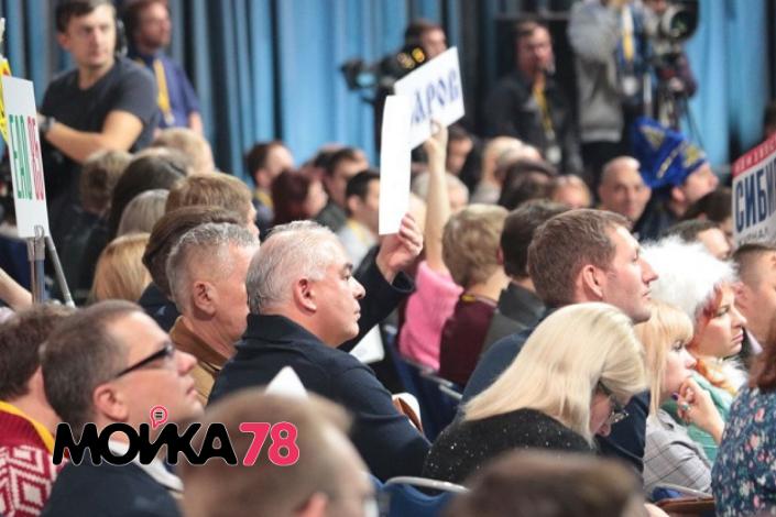 Журналисты на большой пресс-конференции Владимира Путина. Фото: Мойка78