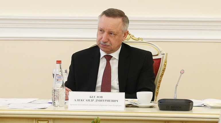 Беглов покинул ЗакС на выступлении Резника