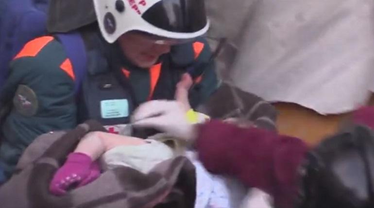 Спасенный в Магнитогорске малыш. Фото: скриншот