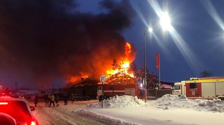 В Разметелево местных жителей шокировал пожар в кафе «Горка»