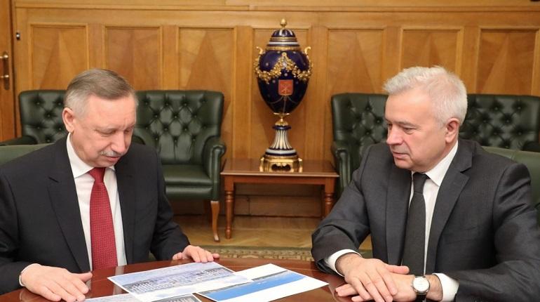 Беглов встретился с президентами компаний «Лукойл» и «Банк ВТБ»