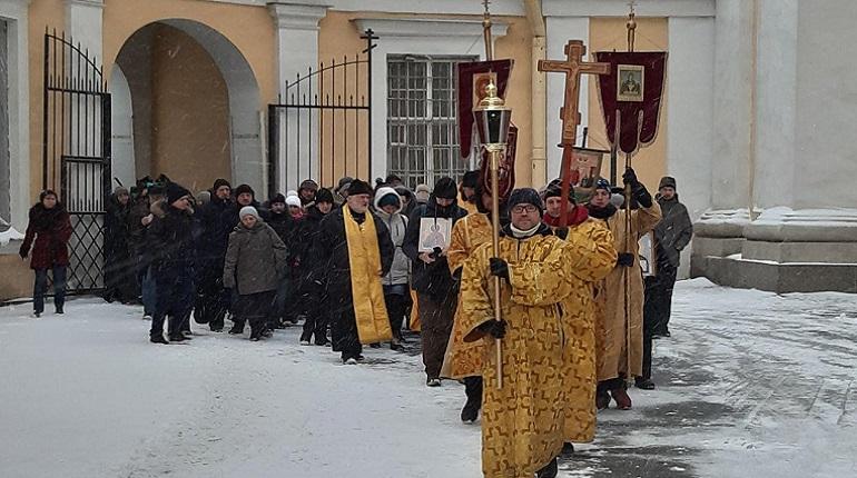 Ежегодный крестный ход трезвенников прошел 1 января в Петербурге. Фото: Мойка78