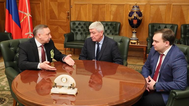 Встреча Беглова, Чиханчина и Лоскутова. Фото: gov.spb.ru