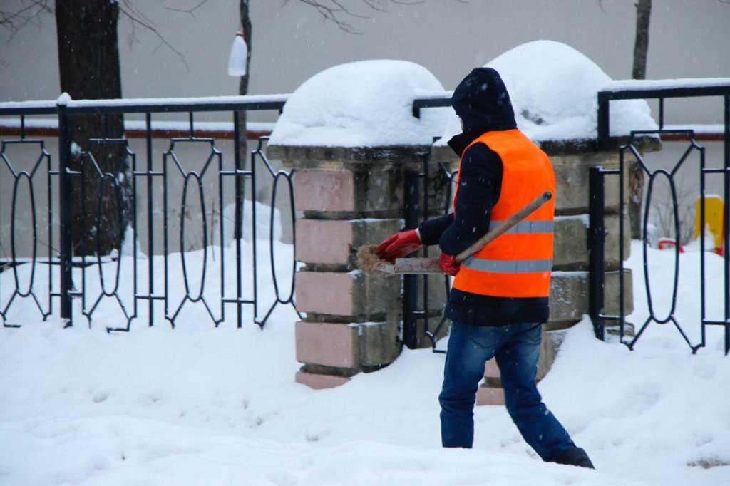 Коммунальщики вывезли с улиц Петербурга 1400 «кубов» снега и высыпали соль