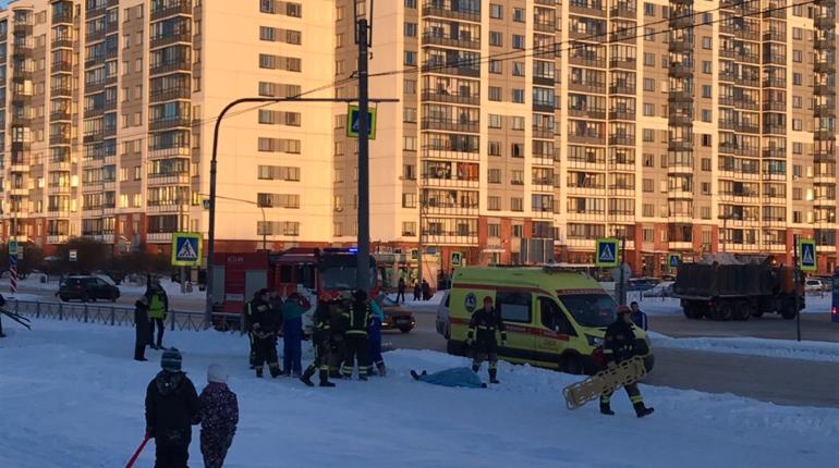 Место происшествия в Приморском районе. Фото: vk.com/sosedi_kvartala