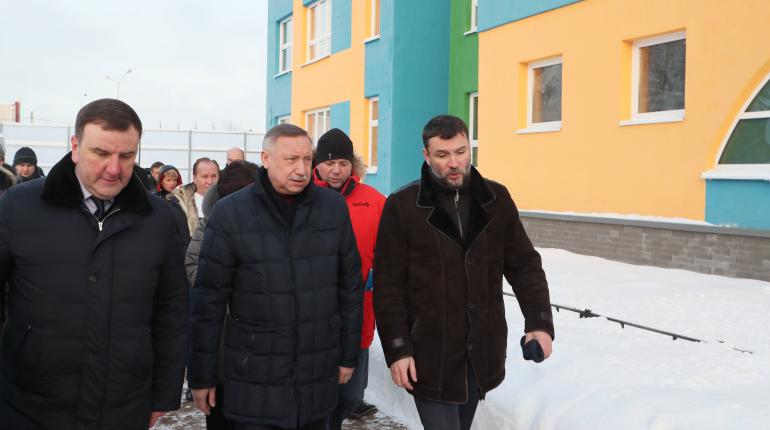 Беглов на объезде Красногвардейского района. Фото: gov.spb.ru