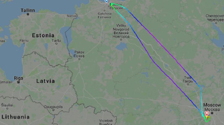 Маршрут рейса SU 6028. Скриншот Flightradar24