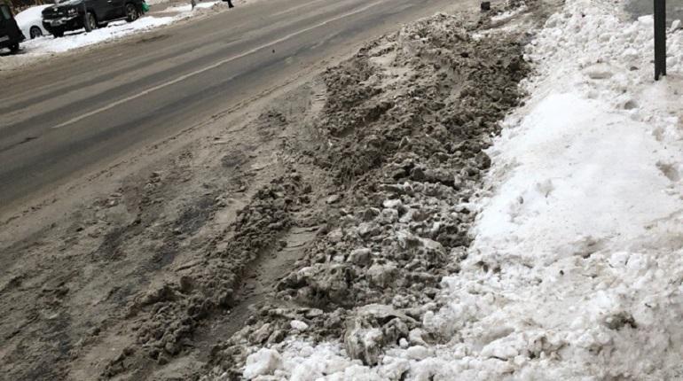Петербуржцы раскритиковали уборку снега на улицах города