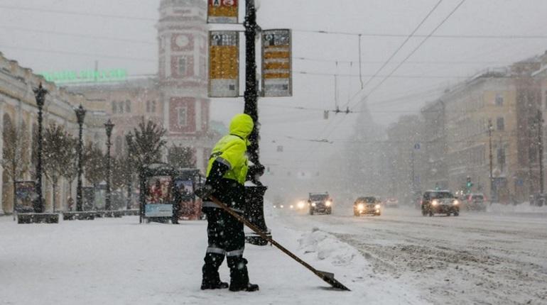 В субботу снегопад снова «порадует» петербуржцев