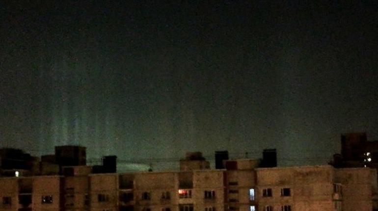 В небе над Васильевским заметили гало. Фото: vk.com