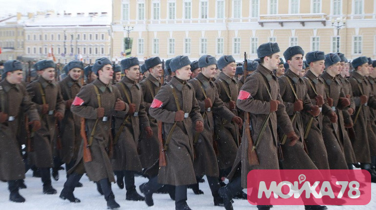 Репетиция парада на Дворцовой. Фото: Мойка78/Николай Овсянников