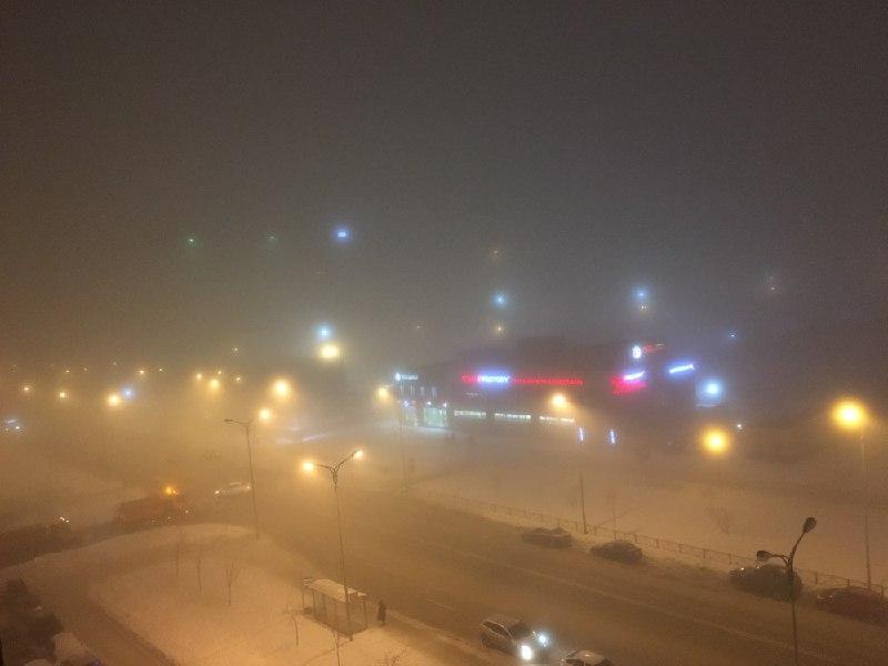 Туман превратил юго-запад Петербурга в сцену из Silent Hill