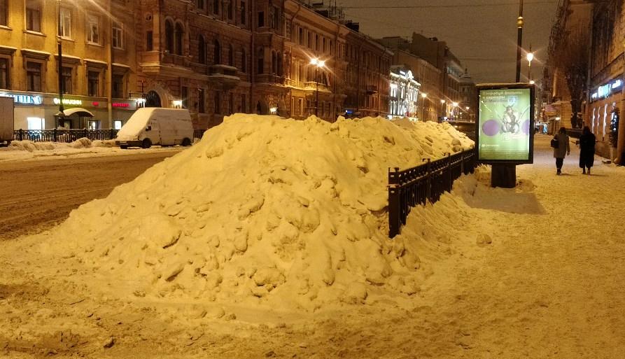 Высота снежного покрова в Петербурге установила новый рекорд