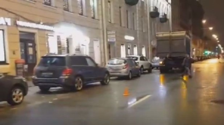 Авария в переулке Гривцова. Фото: скриншот