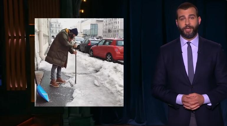 Иван Ургант обсуждает снег, Скриншот: YouTube/Вечерний Ургант