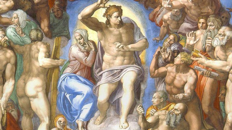 Картина Микеланджело Страшный суд. Фото: Эрмитаж