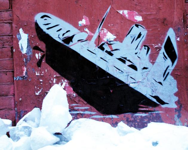 В Северной столице нарисованный «Титаник» разбился о «суровую реальность»