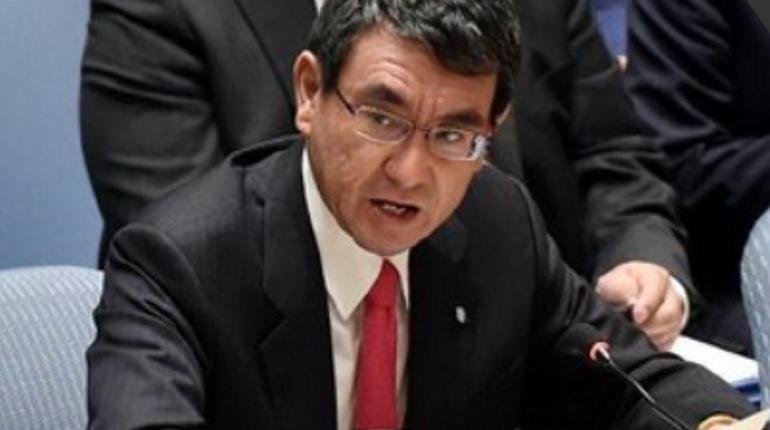 Глава МИД Японии Таро Коно. Фото: Twitter Таро Коно