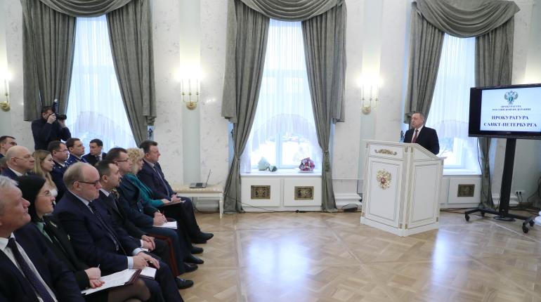 Беглов на заседании коллегии прокуратуры. Фото: gov.spb.ru