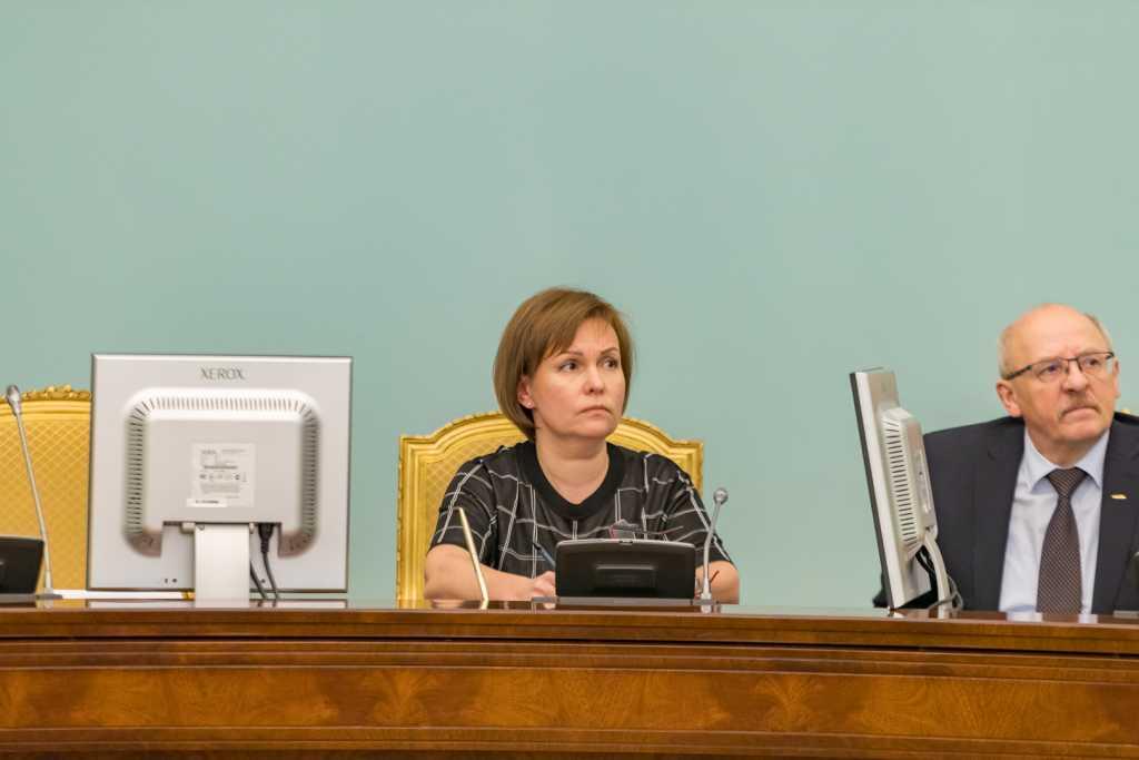 Вице-губернатор Анна Митянина на совещании по вопросам оказания помощи пострадавшим от гололеда/ фото: пресс-служба  правительства СПб