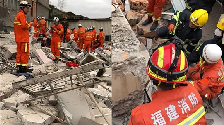 В Китае под завалами дома оказались более 10 человек