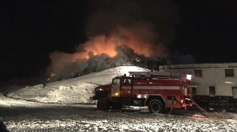 Пожар на полигоне. Фото: Росприроднадзор