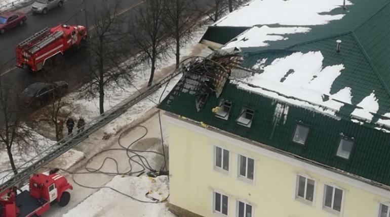 Пожар в Тосно. Фото: группа