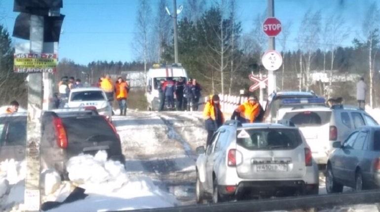Водитель Skoda умер после ДТП с тепловозом у Заречного