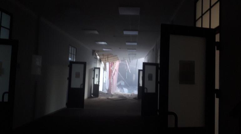 Обрушившийся корпус в ИТМО, Фото: vk.com/overhearitmo
