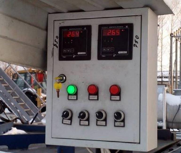Панель управления печью для сжигания