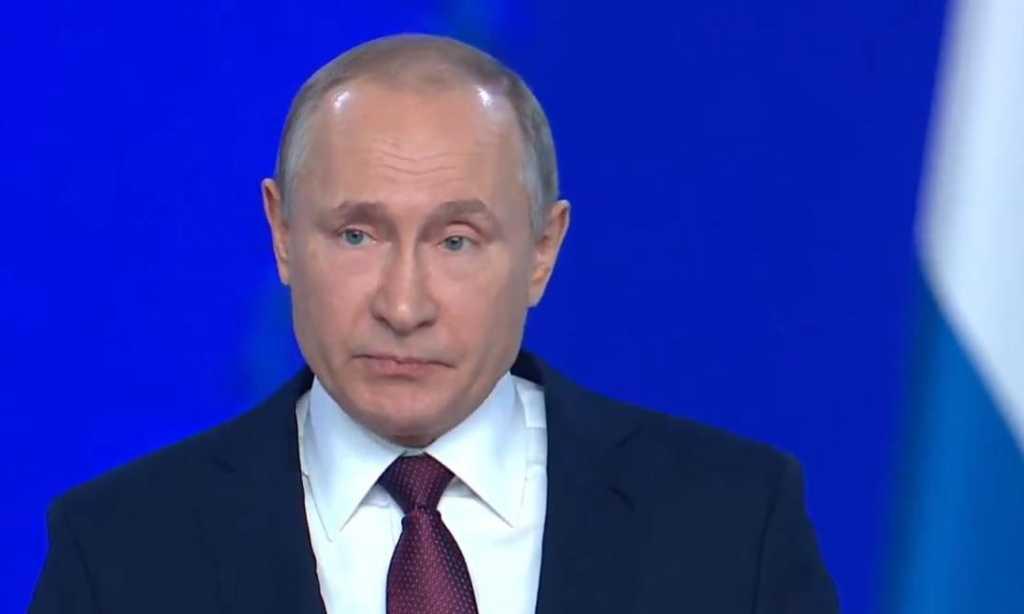 Президент РФ Владимир Путин. Фото: скриншот трансляции послания Федеральному собранию