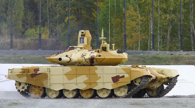 В сети появилось видео испытаний танка Т-90МС