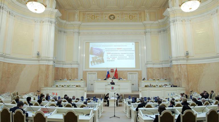 Заксобрание Петербурга соберется на заседание. Фото: assembly.spb.ru
