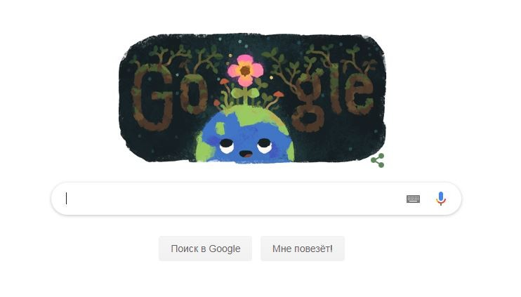 Google посвятил дудл Дню весеннего равнодентсвия