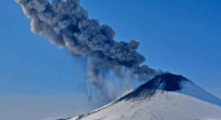 Карымский вулкан. Фото: ГУ МЧС России по Камчатскому краю