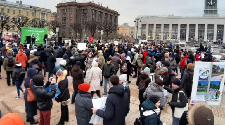 Митинг на площади Ленина. Фото: