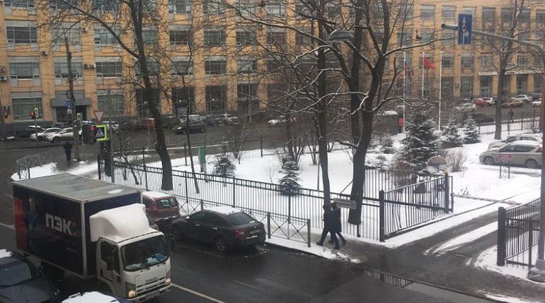 Так выглядят улицы Петербурга 26 марта. Фото: Мойка78