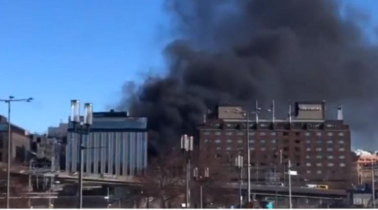 Взрыв в Стокгольме. Фото: кадр видео