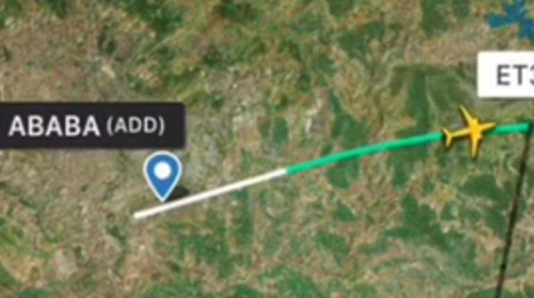 Траектория полета разбившегося Boeing. Фото: кадр видео