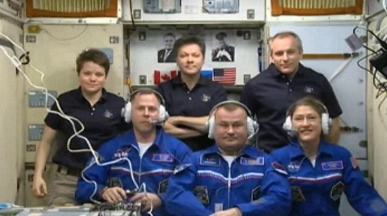 Экипаж МКС. Фото: кадр видео
