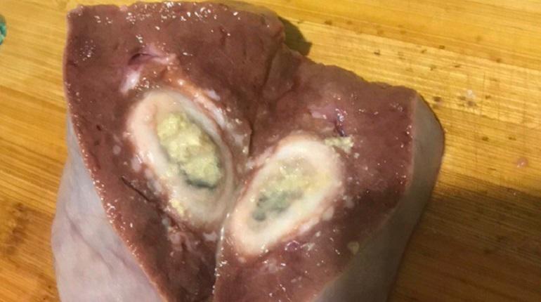 Испорченную печень петербурженка нашла в продуктовом магазине. Фото: соцсети