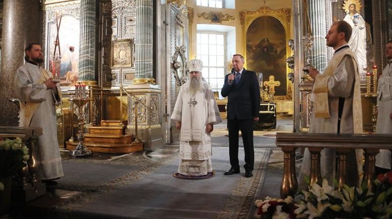 Прощание с отцом Павлом в Казанском соборе. Фото: gov.spb.ru