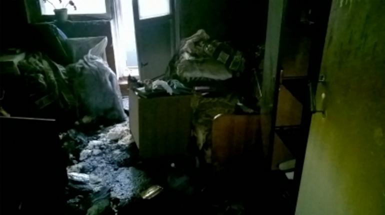 Подозреваемый попытался сжечь квартиру. Фото: СК РФ