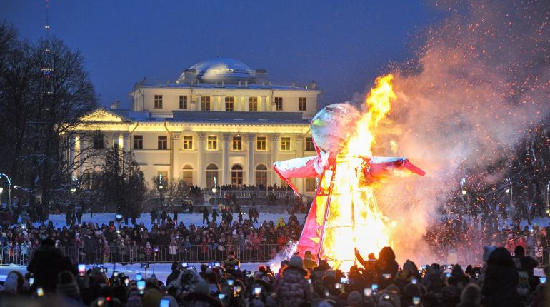 Сожжение чучела Масленицы. Фото: vk.com