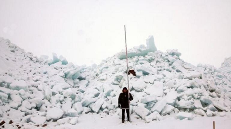 Ледяная стена на КЗС. Фото: Instagram