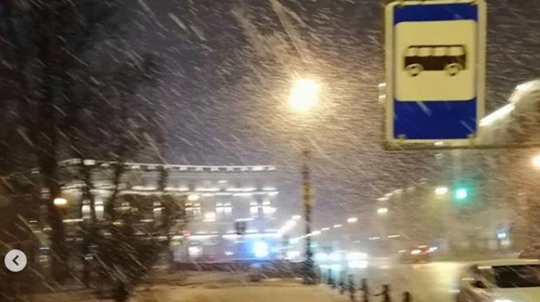 Снег в Петербурге. Фото: Instagram