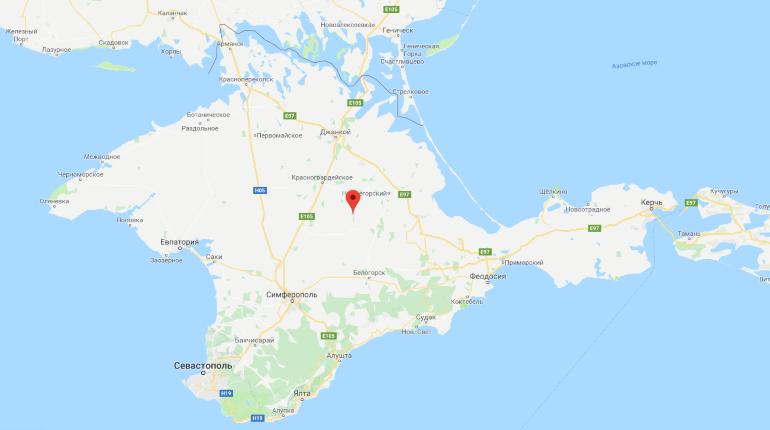 Крым на Google картах. Скриншот